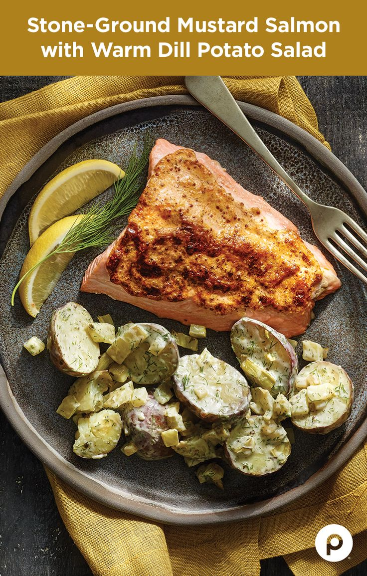 If you love salmon as much as you love recipes that are simple and delicious, you're going to want to try this Publix Aprons recipe for Stone Ground Mustard Salmon. You can enjoy the Warm Dill Potato Salad as a chilled side dish—because everything about this recipe is easy.