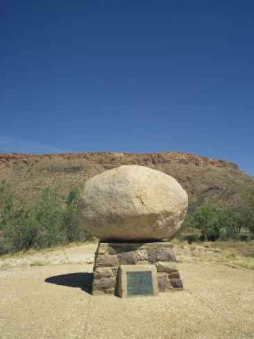 Gravestone of John Flynn, Founder of the Flying Doctor Service, Near Alice Springs, Australia