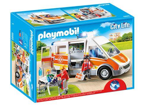 PLAYMOBIL 6685 Ambulans med ljus och ljud