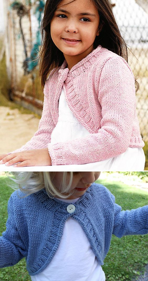 Knit This Cute Cover-Up For A Little Girl | Knitting Patterns