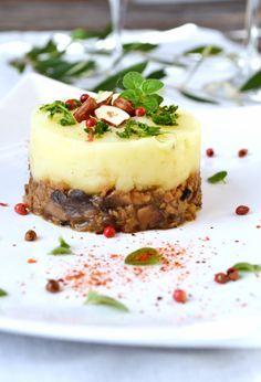 Christmas parmentier céleri, châtaignes, champignons #vegan #sansgluten | Green Cuisine
