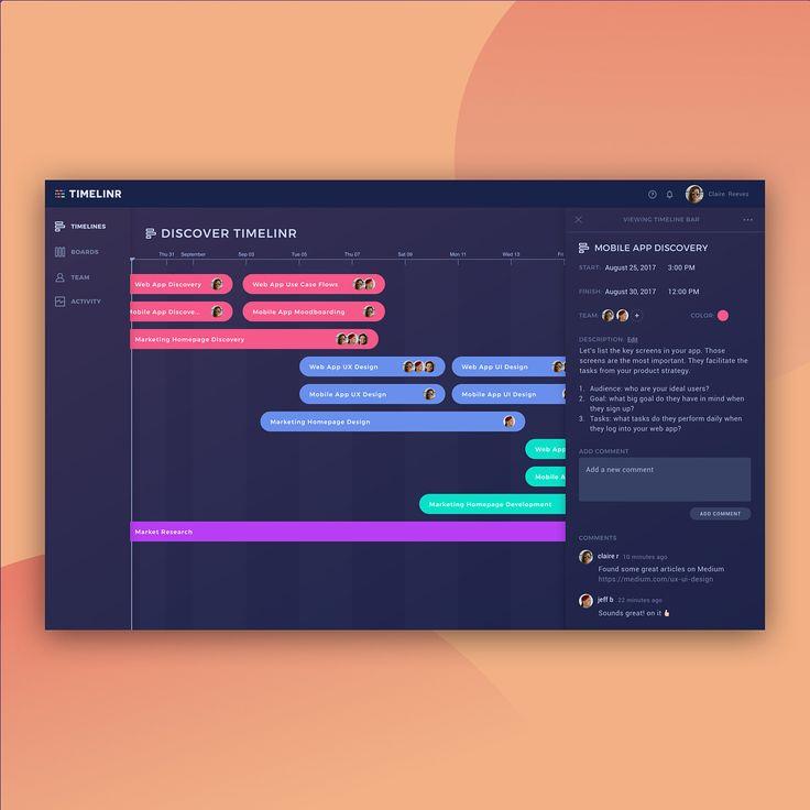 "1,020 curtidas, 16 comentários - Web Design Inspiration (UI/UX) (@welovewebdesign) no Instagram: ""Plan your hustle @go.timelinr Get it now! Link in bio. - Link: http://www.gotimelinr.com/ - More…"""