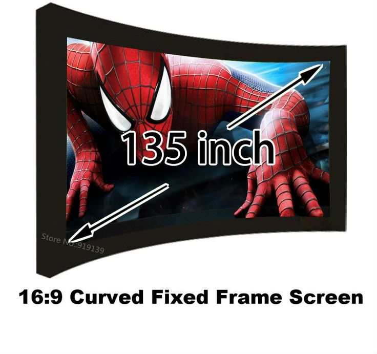 431.78$  Watch now - http://aliwpm.worldwells.pw/go.php?t=32635821618 - Full HD Projector Screen 135 Inch Curved Fixed Frame Cinema Projection Screens 16:9 Ratio Best Quality