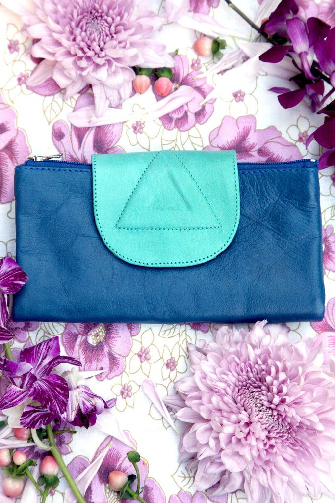 Navy and Turquoise Wallet