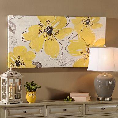 Windy Yellow Canvas Art Print