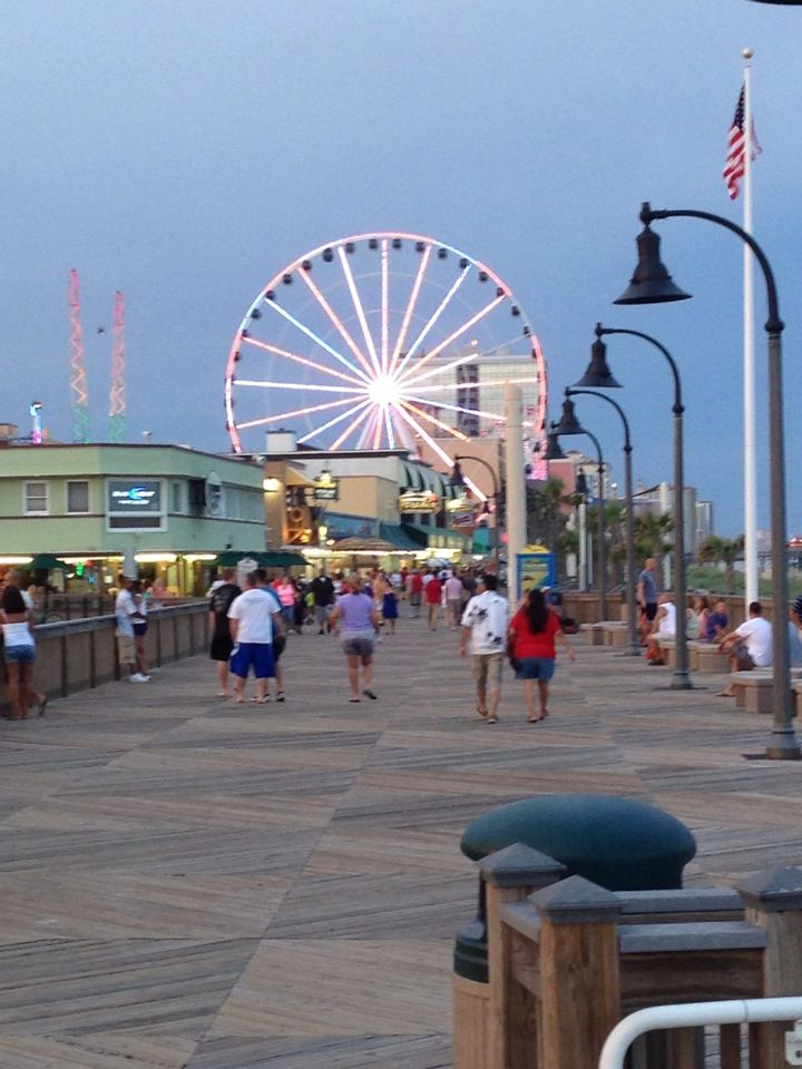 Myrtle Beach SC Boardwalk And Pavilion