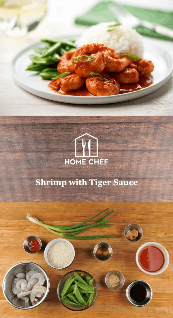 Shrimp with Tiger Sauce and charred sugar snap peas