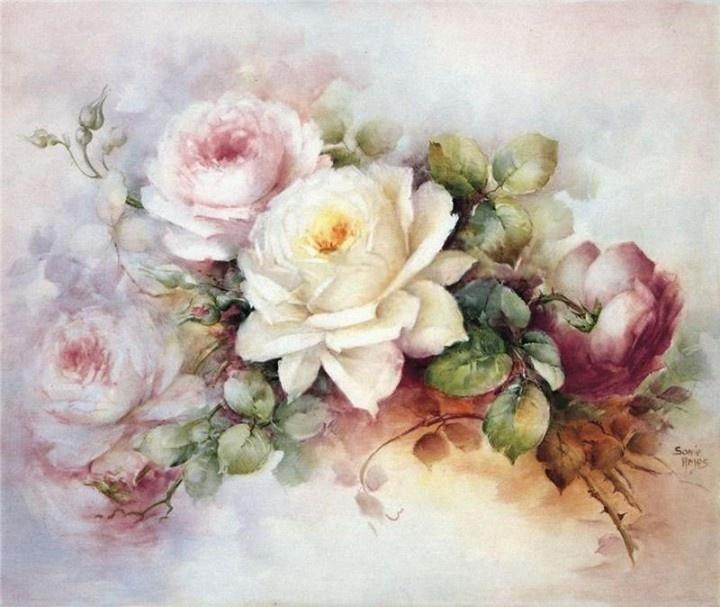 Pintura sobre porcelana (+1) - (1) - Tarjeta de Decoupage   DIY!