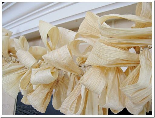 Countdown to Fall Party… Corn Husk Garland - Domestically Speaking
