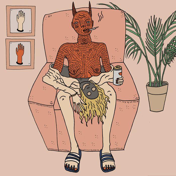 Polly Nor dibuja sobre la sexualidad, el deseo, la excitación y también la frustración.