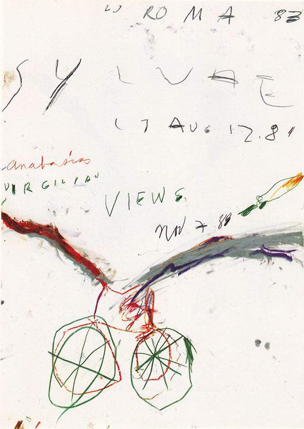 Cy Twombly / Wax crayon and pencil