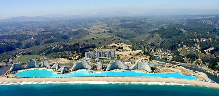 San Alfonso del Mar  Algarrobo, Chile    Largest and deepest swimming pool in the world.  I saw the before years ago but only wish I can go back to see it now.  Something tells me pictures don't do this justice.