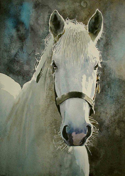 Oleg Kozak (watercolor painting).  Beautifully done.