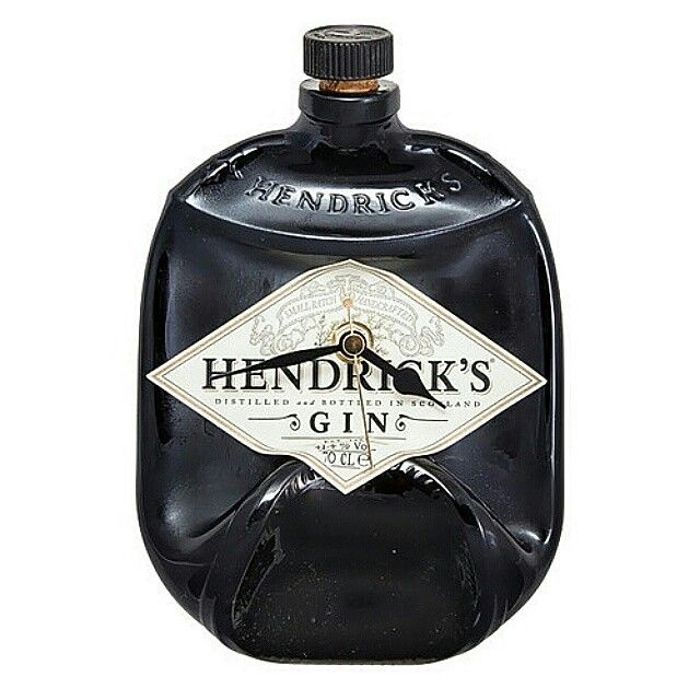 Beautiful Hendricks gin bottle clock.  On SALE