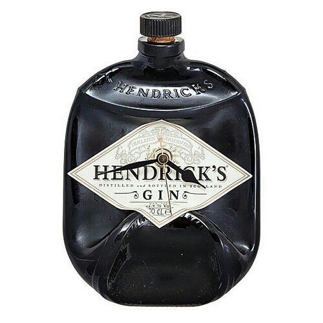 Beautiful Hendricks gin bottle clock. On SALE