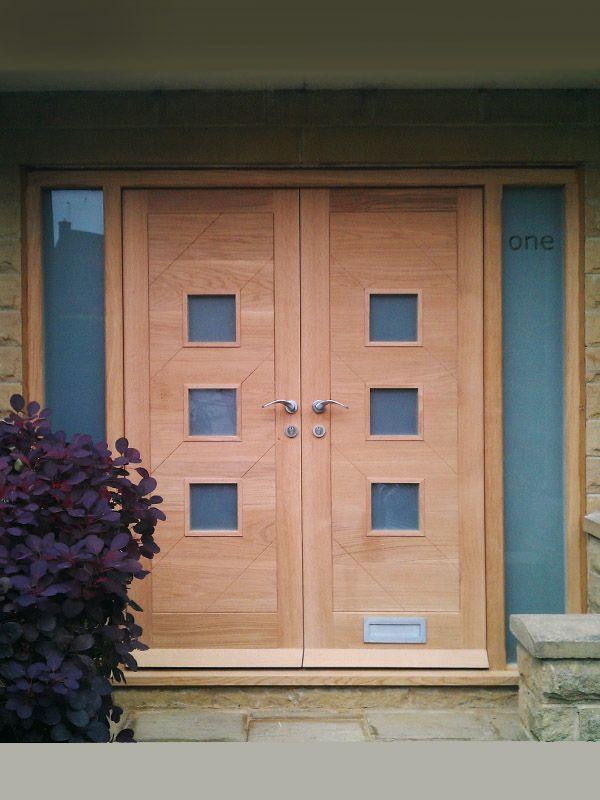 Bespoke oak door pair in modern contemporary design. thick solid European oak (not engineered/veneered). Hand made in the UK by The Bespoke Door Company & 52 best Bespoke Doors images on Pinterest | Bespoke Door ... Pezcame.Com