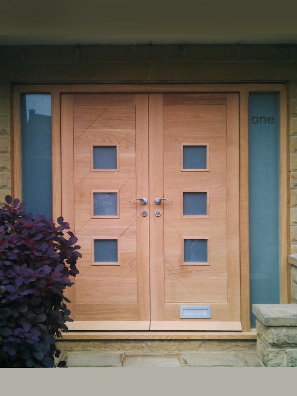 Bespoke oak door pair in modern contemporary design. 55mm thick solid European oak ( & Best 52 Bespoke Doors images on Pinterest | Architecture Pezcame.Com