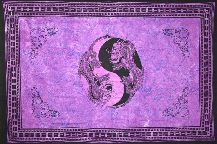 yin yang dragon tapestry photo