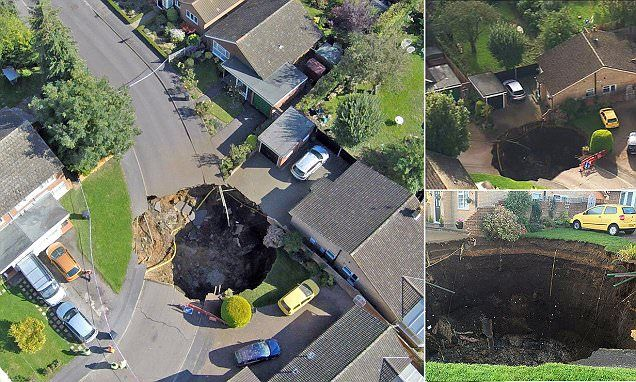 Residents evacuated as sinkhole opens up in suburban cul-de-sac