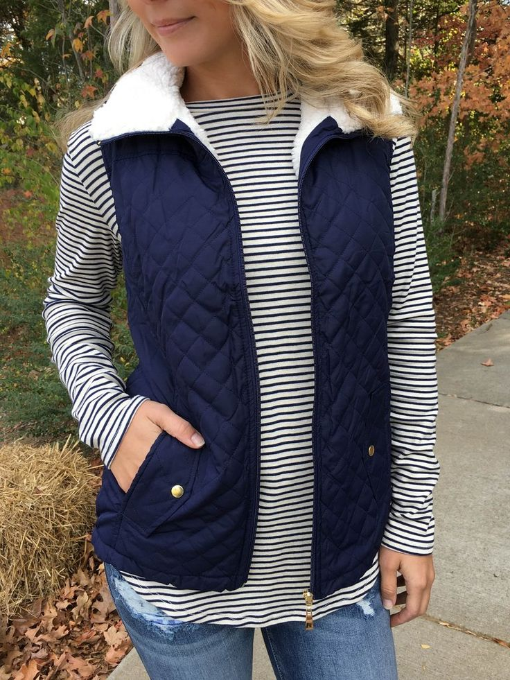 We love how versatile this fleece-lined vest is; the outfit possibilities are endless. Featuring a sturdy zipper, snap pockets, and a super soft fleece lining. Add a layer of warmth and style to your