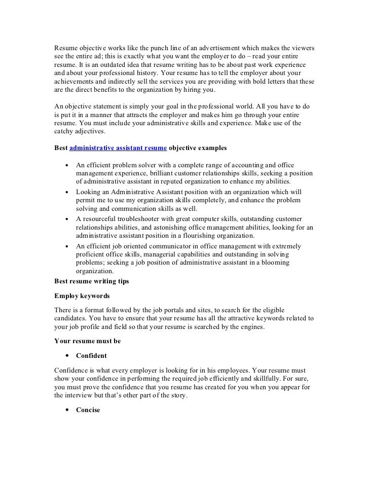 Career Objective Examples For Resume - Template