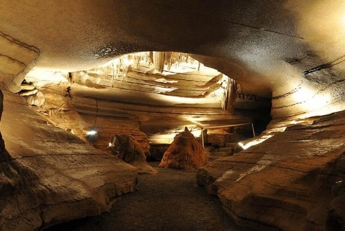 Bluff Dwelllers Cavern in Noel, MO--about 30 minute drive from Bentonville.  Internet coupon available.