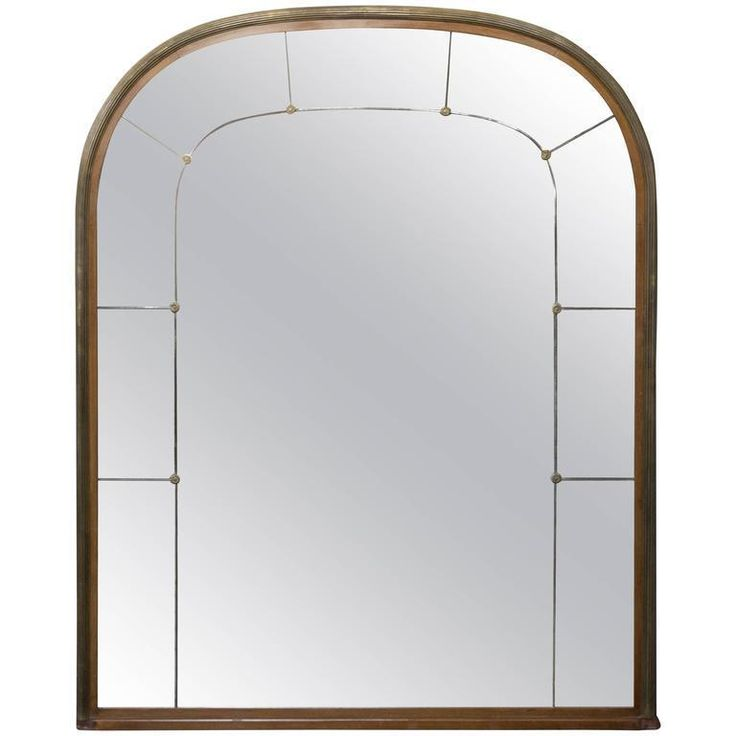 Large French Mahogany and Brass Trimmed Mantel Mirror | Antiques, Decorative Arts, Mirrors | eBay!