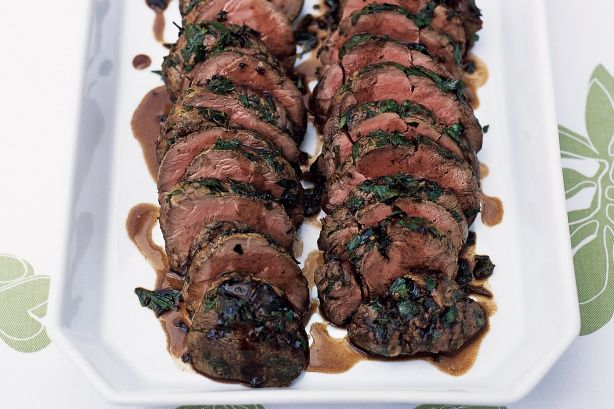 Herbed beef with balsamic glaze at the Mt Hotham retreat