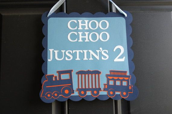 Train Door Sign  Train Welcome Sign Train Birthday by GiggleBees, $12.00