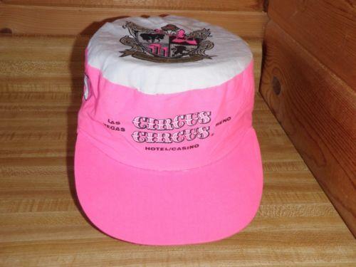 Vintage-Circus-Circus-Las-Vegas-Trucker-Hat-Cap-Reno-Casino-Hot-Pink-Cap-One-Sz