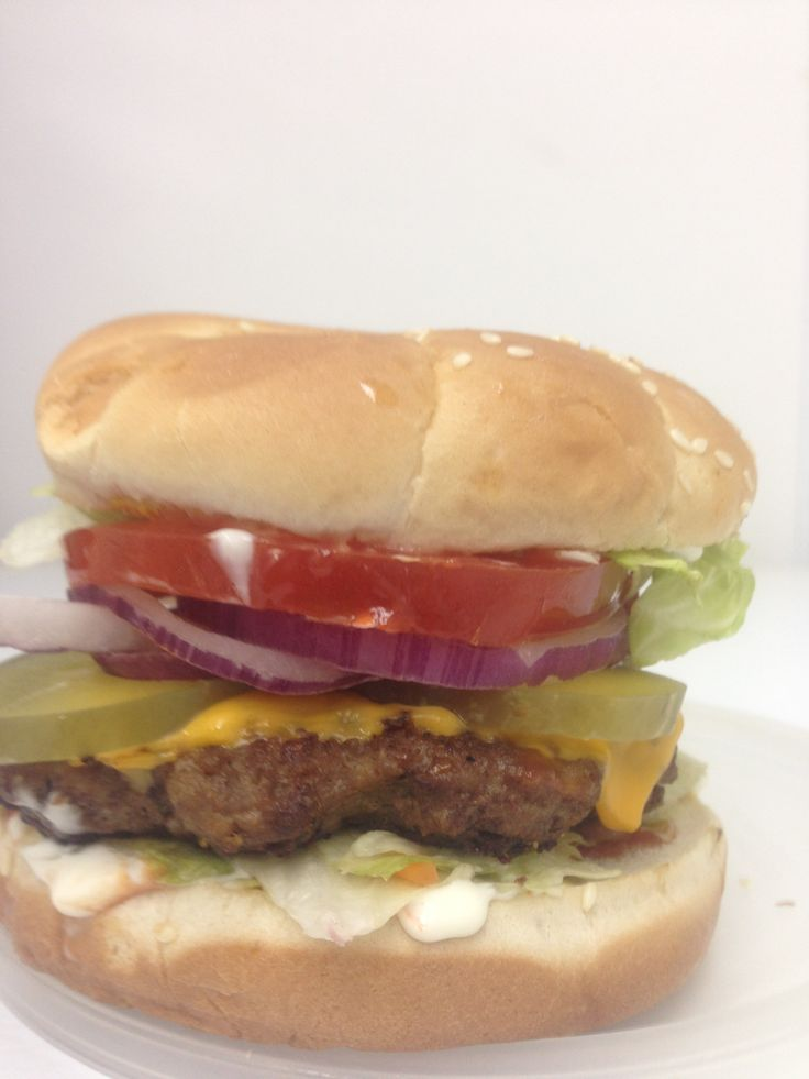 Homestyle burger from Mr. Sharks Fish and Chicken, 2111 W. Fairfield Drive, Pensacola, FL 32505