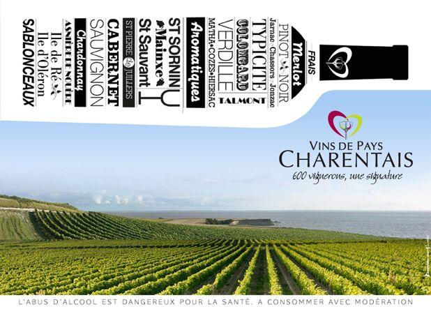 affiche Vins de Pays Charentais © Outdoo - Montgomery Ouest