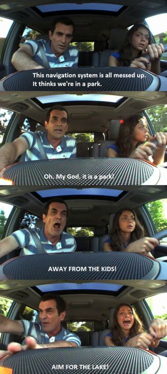 Phil Dunphy, surviving parent-taught Drivers Ed. This is why my kids will be taking a Drivers Ed course.