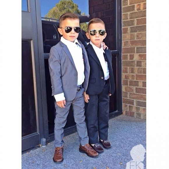 And I cant forget my two spunky boys. I can see them rocking out in these suits with aviators. So Cute!!