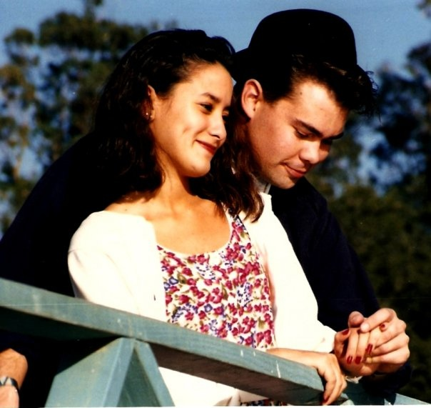 My youth pastor and his wife when they dated in 1992 <3