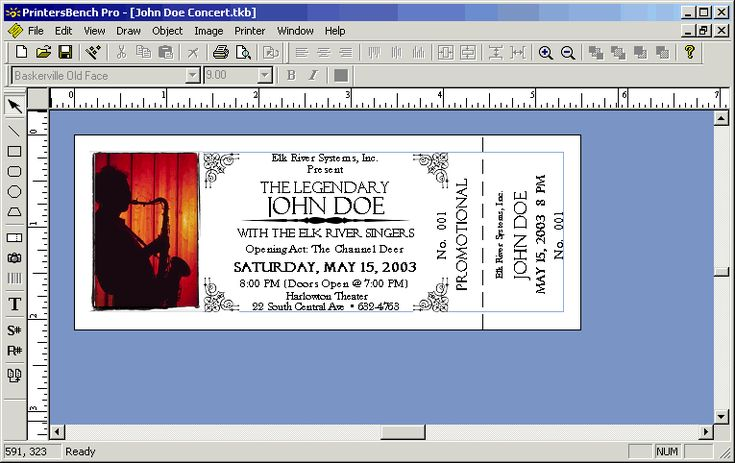 Image detail for -Event Ticket Stub Template Software