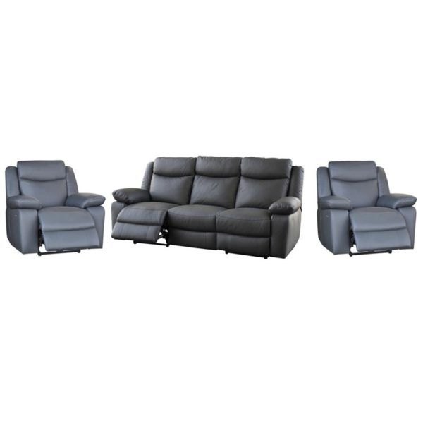 Costa – 3 Seater w 2 Electric Recliners + 1 Electric Recliner + 1 Electric Recliner – Leather/Black. For more information Please take a moment to visit our website : http://www.furniture2you.com.au/