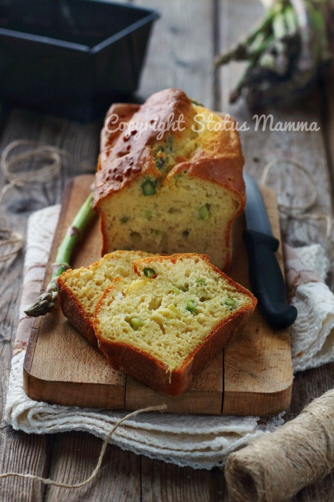 Ricetta plumcake salato asparagi e caprino