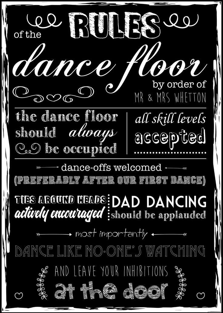 Wedding Dance Floor Rules