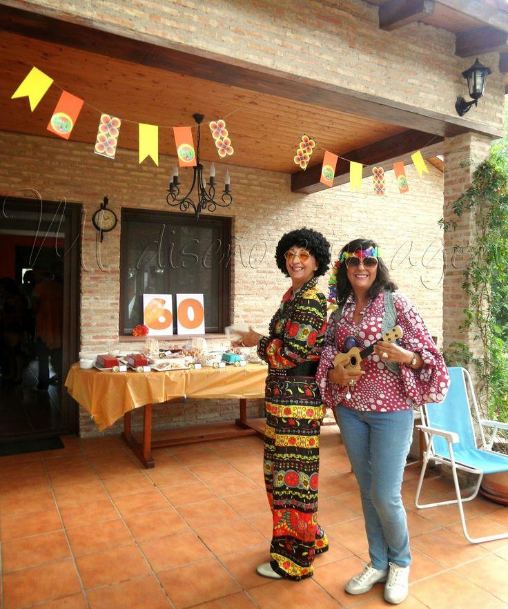 Fiesta de cumplea os tem tica a os 60 fiesta pinterest for Decoracion 70 s