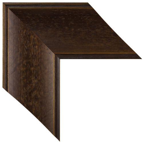 MAL-0597 - Brown Framed Mirror | Large Mirror | Bathroom Mirror | Custom Sized