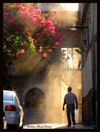 Sunset in the city / Road to Heaven .. damascus syria