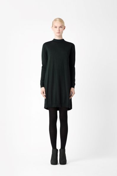 Merino and woven dress