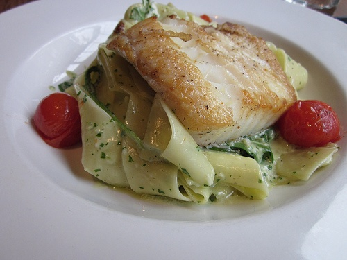 Halibut with Pesto Pappardelle at @flyingpigvan (The Flying Pig). Click on the photo to read my review on Hummingbird604.com
