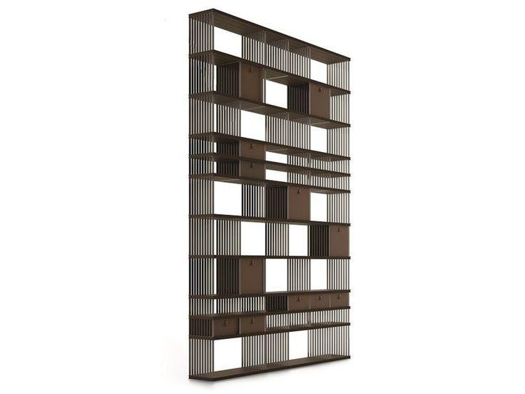 Estante auto-sustentável dupla face em aço e madeira DIESYS by ALIVAR | design Giuseppe Bavuso