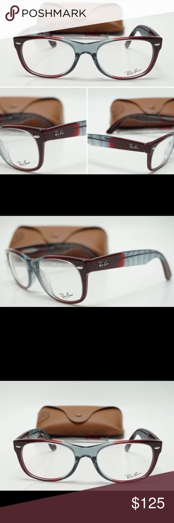 RAY-BAN RB5184 WAYFARER OPTICS UNISEX NON RX (NEW) Full Rim Unisex Frame RB5184 New Wayfarer Features Silver Metal Accents on the front and Ray-Ban logo in Silver on the temples; 1  Frame Size: 52-18-145.  Store Display Models.  Frames are still with demo lenses in them the eyeglass frames are in perfect condition with the exception of a few. Tiny dots only noticeable under direct light the lenses have many scratches due to storage  Original Protective Carrying Case and Cleaning Cloth…