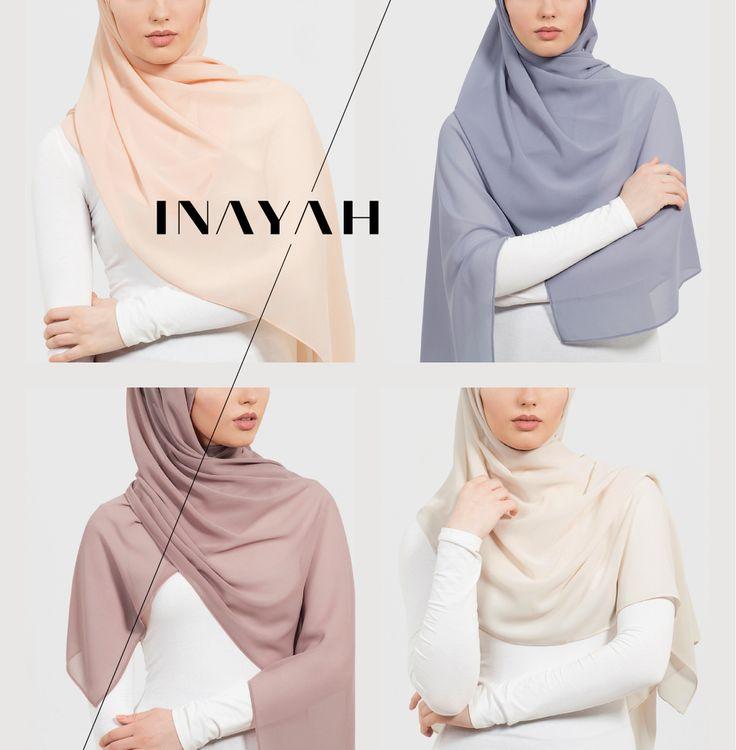 INAYAH are pleased to announce that we now have over 50 exclusively dyed hijabs inspired by natures soft hues available ONLINE in Soft Crepe, Peach Skin and Textured Rayon just in time for the wonderful weather ahead. Most shades are also available in Square, Maxi and Regular sizes to suit your styling needs. Apricot Soft Crepe #Hijab + Cool Grey Soft Crepe #Hijab + Dirt Pink Soft Crepe #Hijab + Nude Shade 1 - www.inayah.co