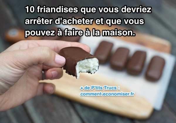 10 recettes de friandises maison bounty rocher coco carambars chamalow twix kinder nutella sucette