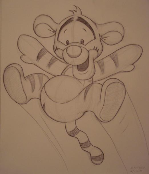Meine Disney Zeichnung – Baby Tigger by EadgeArt.devianta… on @deviantART