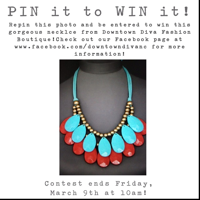 PIN it to WIN it! Simply repin this photo and be entered to win this necklace from our boutique!: Favorit Color, Downtown Divas, Finger Crossing Now, Color Combos, C U.S. T E Styles, Commenc Finger, Fashion Styles Beauty